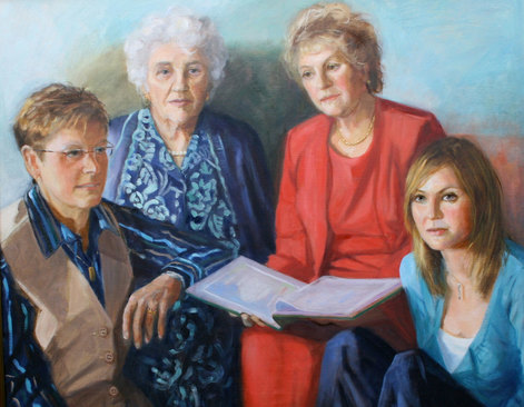 Four generations of the women of a family