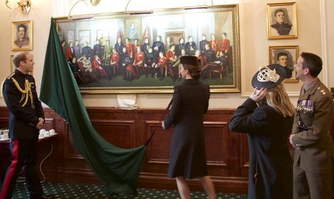 Unveiling of Military Army Group oil painting by the Duke & Duchess of Cambridge