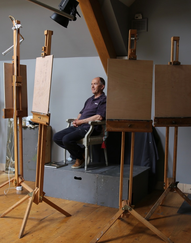 Lindy's north lit studio for portrait painting with perfect lighting