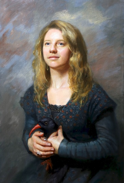 oil painting which won the Society of Women's Artists SWA annual Presidents and Vice-Presidents award best painting in Show