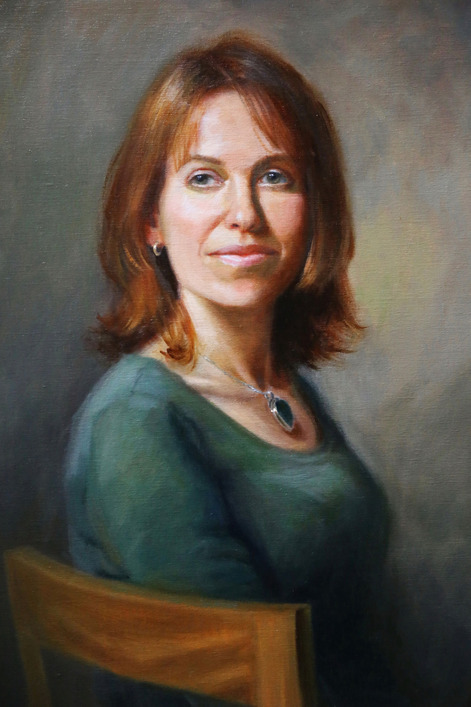 Head and shoulders portrait painting commission