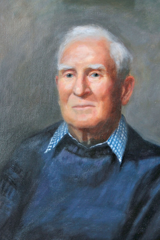 portrait painting of a retired naval Officer